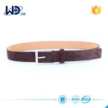 2015 Soft baseball belt equestrian belt Suede Leather belt