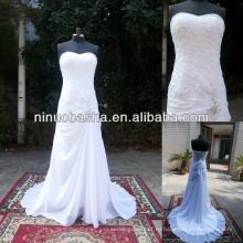 З-485 элегантный шифон реальный образец свадебное платье 2014
