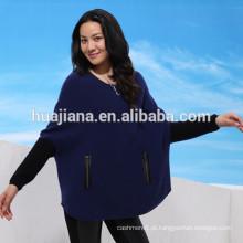 jaqueta feminina de cashmere dolman sleeves