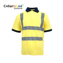 Polo de seguridad reflectante amarillo de secado rápido
