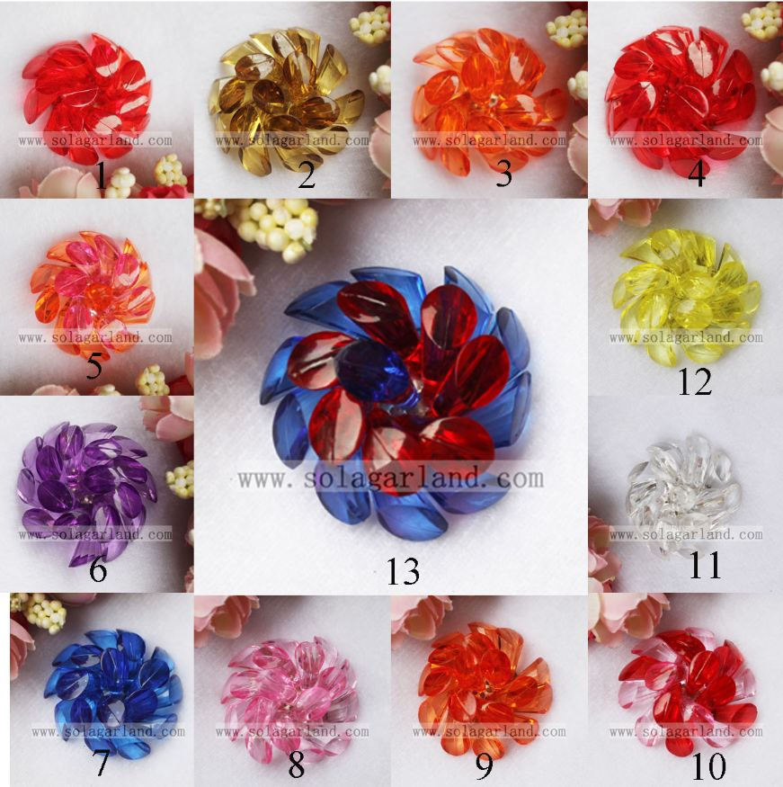 Crystal Horseshoe Beading Flowers