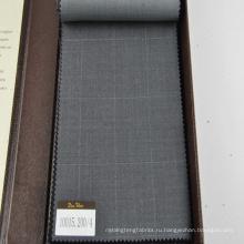100% шерстяной костюмной ткани, ткани в большие проверить дизайн