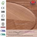 JHK-000 Gran venta Groove Modelo Alemania Hospital FSC Certificado Natural Sapele Veneer MDF puerta de la piel