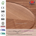 JHK-000 Grande Venda Groove Modelo Alemanha Hospital FSC Certificado Natural Sapele Folheado MDF Porta Pele