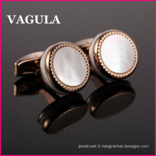 VAGULA Or Rose chemises boutons de manchette L52500