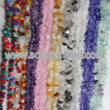 "31.5"" Length Natural Crystal Gravel Chip Irregular Beads"