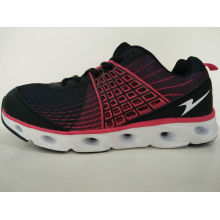 Black Red Comfort Running Shoes Women Sneakers