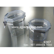 300ml 400ml 750ml 1000ml Máscara de latas sello frasco cosmético