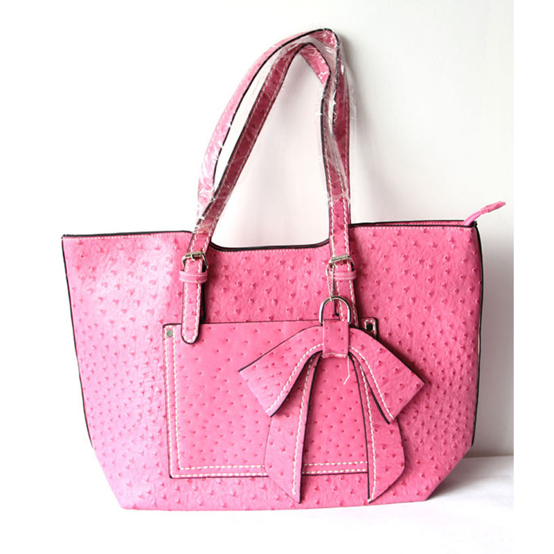 Pink Leather Totes For Women