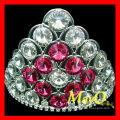 Симпатичная маленькая свадебная тиара, полная хрустальная тиара, свадебная корона с розовым кристаллом