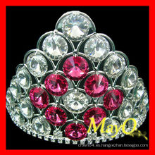 Pequeña tiara de la boda pequeña, tiara cristalina llena de la joyería, corona nupcial con el cristal color de rosa