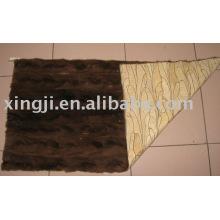 plaque de fourrure de vison de couleur brun naural de qualité supérieure style golf