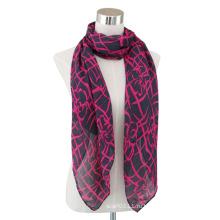 Леди мода хлопок печатных вуаль длинный шарф (YKY4065)