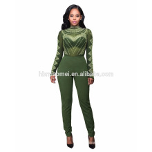 XYLTY-026 Sexy night club ladies two piece black bodycon bandage jumpsuits