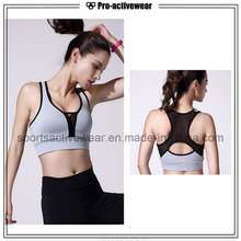 OEM Wholesale Customized Made Dry Fit Women Wicking Sublimation Mesh Sports Bra