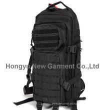 Mochila militar negra impermeable de alta calidad (HY-B077)
