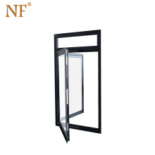 French tempered glass aluminum double glazed window