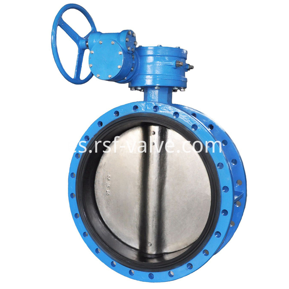 Concentric Flange Rubber Lining Butterfly Valve