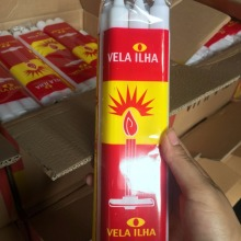 400g Sydafrika Velas White Fluted Candle Bougies