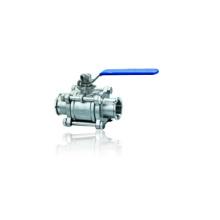 Válvula de bola sanitaria de la abrazadera 3PC del acero inoxidable (IFEC-BV100010)