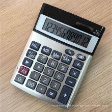 12 chiffres Calculatrices Dual Power Office avec couvercle en aluminium (CA1206A)