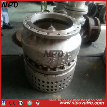 CF8m Stainless Steel Flanged Foot Valve with Strainer