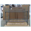 Space saving metal furniture bedroom double deck bed