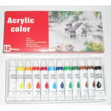 12 piezas de pintura acrílica establece cuadros Pintura de agua de pintura de color