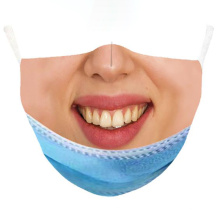 Fashionable Fun Mouth Bike Riding Washable Motorcycle Cycling Breathable Anti Dust Decorative Facemask