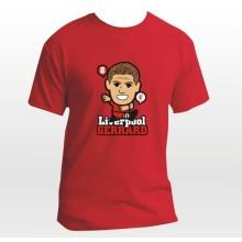 Nuevo diseño de la temporada 2014-15 camisetas de dibujos animados aficionado al fútbol liverpool EPL club equipo Gerrard