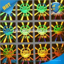 Sello anti-adulteración Etiqueta de adhesión holográfica personalizada / hologramas de seguridad fabrica