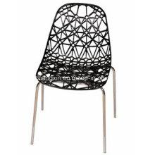 Günstigen Preis Stuhl aus Kunststoff mit Metallrahmen Metall keine Klappstuhl