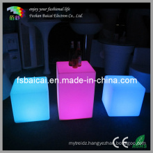 LED Illuminate Plastic Cube 60X60X60cm