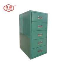 Steel colorful vertical drawers desktop set storage cabinet
