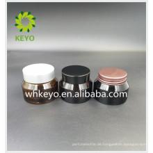 30g Gesichtscreme Glaskrug Stiftung Creme Glas mit Kunststoff-Aluminium-Deckel