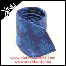 Purple Blue Big Paisley Grenadine Woven Silk Tie, Silk Paisley Tie