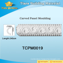 Pu plastic ceiling mouldings for house design