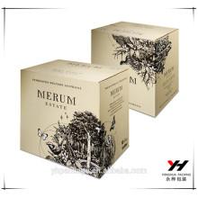 2016 logo personnalisé nouveau design parfum boîte de papier d'emballage de luxe