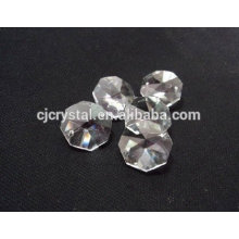 Crystal Glass with hole faceted octagon glass Beads