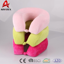 Solid color soft neck pillow for rest and travel,good use U shape pillow