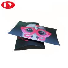 Caja de almohada de papel a todo color impresa personalizada