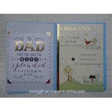 Selo de folha de ouro Die-Cut Cartão de papel de impressão decorado para o dia dos pais