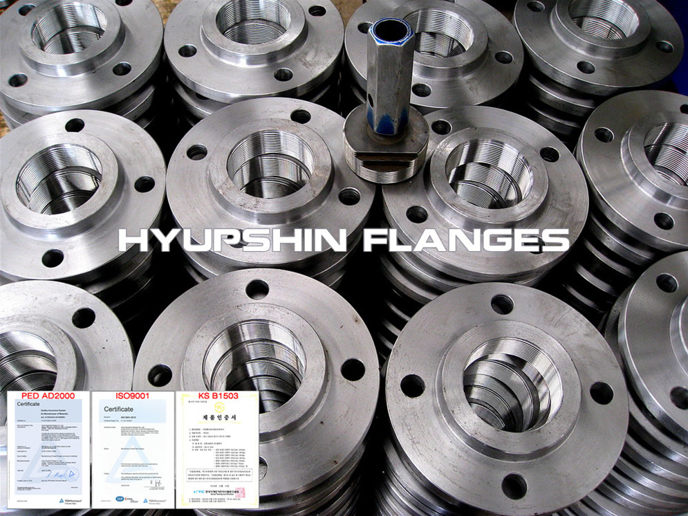 Hyupshin Flanges Bspt Threaded Din Bs4504 En1092 1