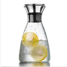 Home Dining Clear Glass Water Pitcher Bebidas Jugo Café Jarro Contenedor