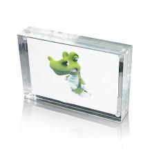 Rectángulo Acrylic Photo Frame Display, Magnetic Photo Display