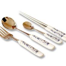 Metal fork & Metal spoon & Metal chopsticks