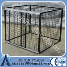 Baochuan-- al por mayor malla de alambre de gran tamaño la perrera de perro recubierto de polvo