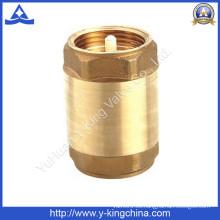 Válvula de retención de muelle de latón de núcleo de plástico o latón (YD-3001)