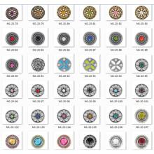 20мм-18мм цинковый сплав Мода Ювелирные изделия Кнопка оснастки