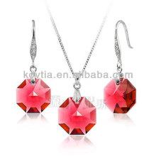 Ensemble de bijoux pendentif ruby charmant en argent 925 en argent